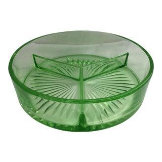 Depression Era Green Glass Ashtray For Sale
