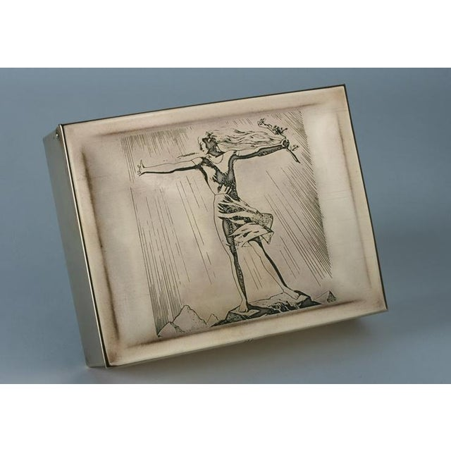 Rockwell Kent Brass Cigar Box - Image 2 of 4