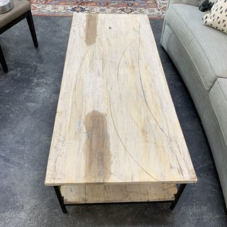 French Country Painted White Reclaimed Wood Coffee Table Preview