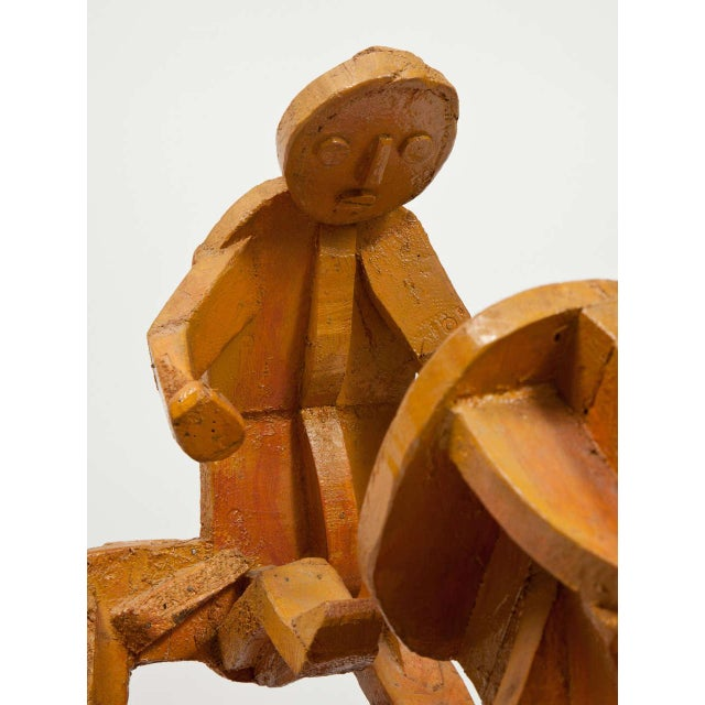 Wood Sculpture of Mother and Child For Sale - Image 7 of 11