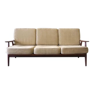 1960s Vintage Danish Modern Teak Hans Wegner Sofa For Sale