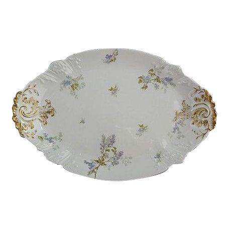 French Haviland Limoges Floral Platter For Sale