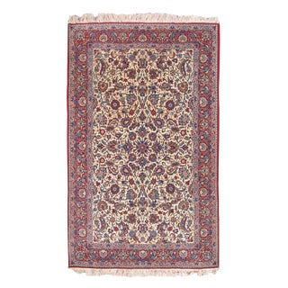 Isfahan Silk Foundation Rug - 4′10″ × 7′6″ For Sale