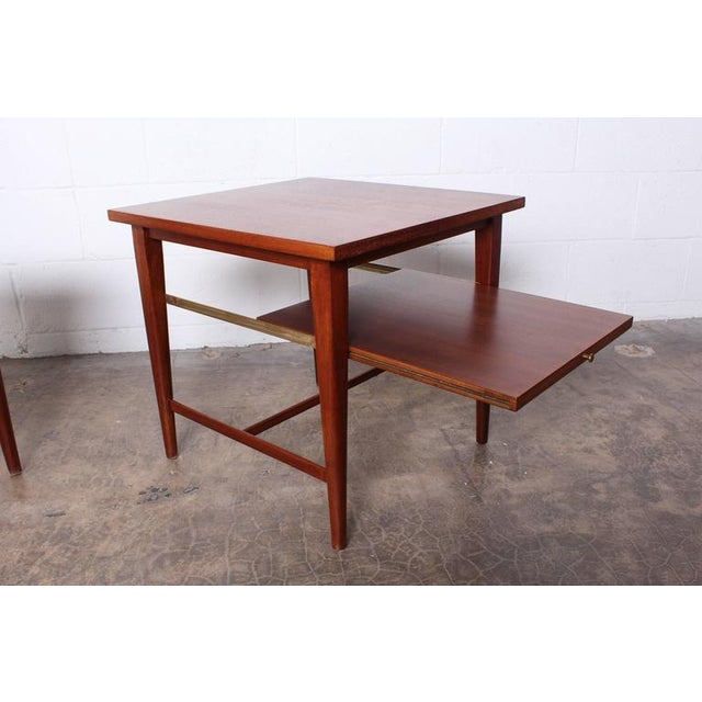 Brown Pair of End Tables by Paul McCobb for Calvin For Sale - Image 8 of 10