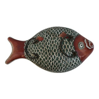 Chinese Colorful Fish Porcelain Serving Dish For Sale
