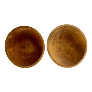 Antique Primitive Bowls - a Pair For Sale