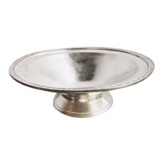 1920s Antique Silver Plated Serving Bowl For Sale