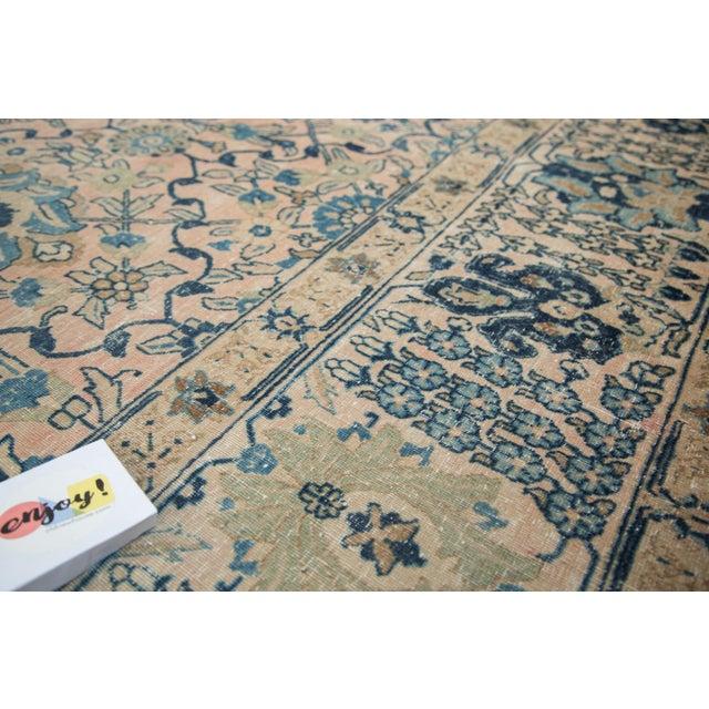 """Vintage Kashan Carpet - 10'1"""" X 14'2"""" For Sale - Image 9 of 11"""