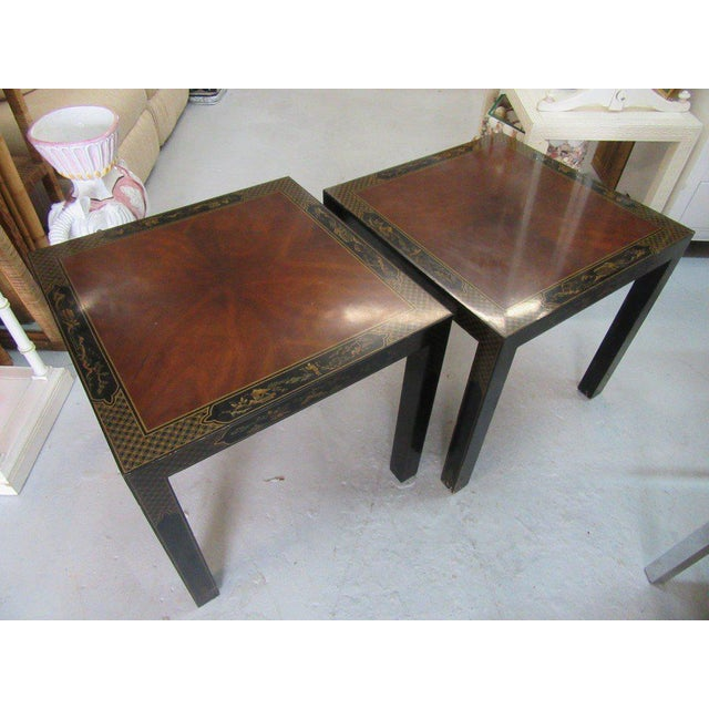 Asian Inspired Drexel Side Tables - a Pair - Image 6 of 9