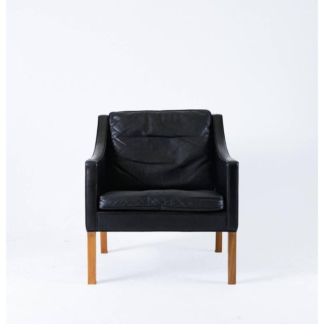 Borge Mogensen Model #2207 Leather Lounge Chair - Image 3 of 10