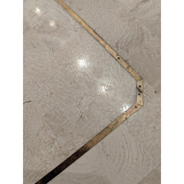 Maitland Smith Tesselated Marble (Coral) Coffee Table For Sale In Dallas - Image 6 of 10