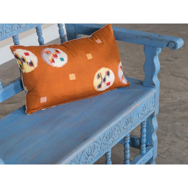 Blue Antique French Painted Bench circa 1890 For Sale - Image 8 of 9