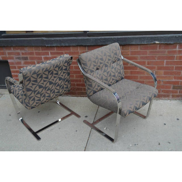 1980s Chrome Dining Chairs by Brueton Eight Available For Sale - Image 5 of 8