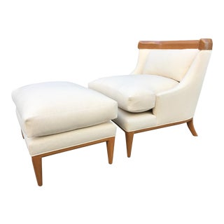 Lounge Chair and Ottoman by Erwin Lambeth for Tomlinson For Sale