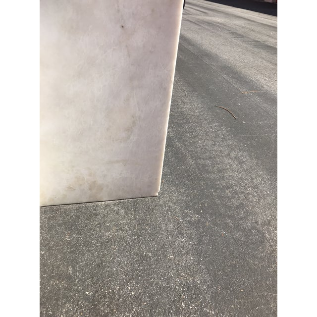Pink 1970's Vintage Solid Marble Side Table For Sale - Image 8 of 12