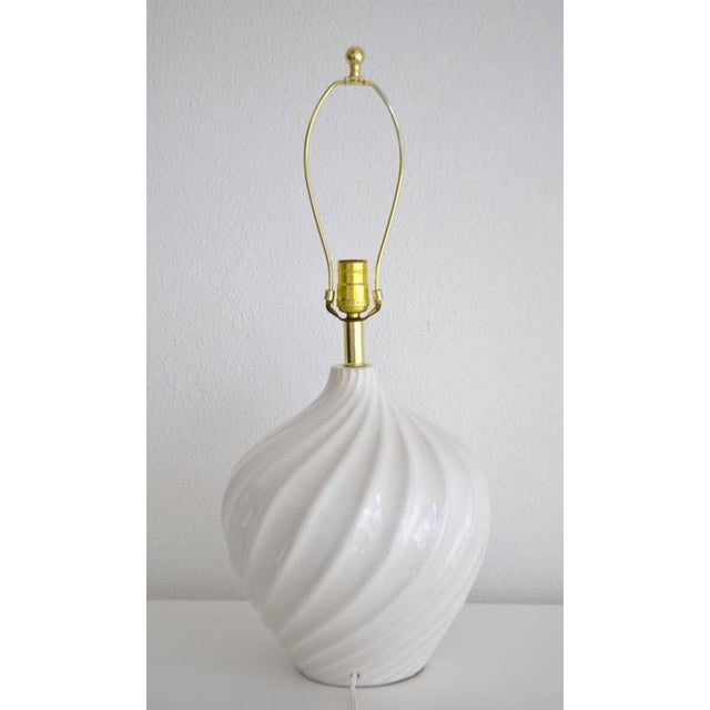 Pair of Blanc De Chine Jar Form Table Lamps For Sale In West Palm - Image 6 of 10