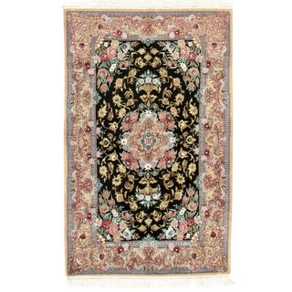 "Persian Isfahan Area Rug - 5'8"" X 3'6"" For Sale"