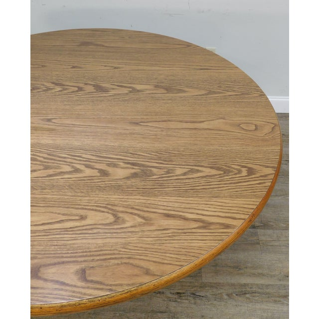Wood Romweber Viking Oak Round Dining Table For Sale - Image 7 of 13