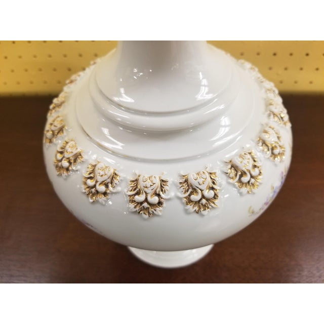 Late 19th Century Meissen Porcelain Covered Bottle Vase For Sale - Image 5 of 13