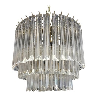 1970s Vintage Lucite Waterfall Chandelier For Sale