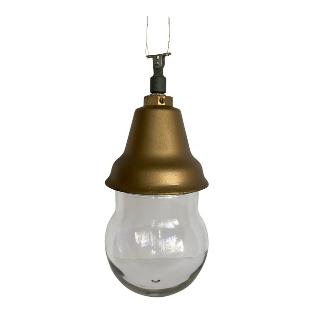 1920's Crouse-Hinds Industrial Pendant Light Fixture For Sale