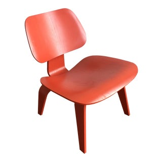 Mid-Century Modern Eames for Herman Miller Red Molded Plywood Lounge Chair