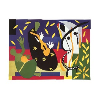 """COUP DE SOLEIL 1973 Vintage MATISSE /""""SUNLIGHT IN THE FOREST /"""" offset Lithograph"""