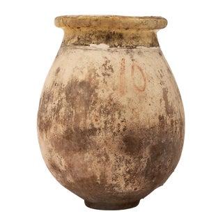 Antique Glazed Terra Cotta Urn For Sale