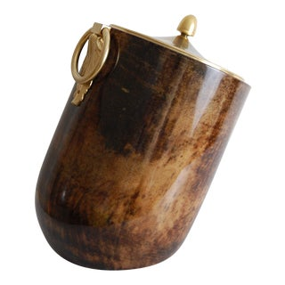 Aldo Tura Goatskin Tilted Ice Bucket For Sale