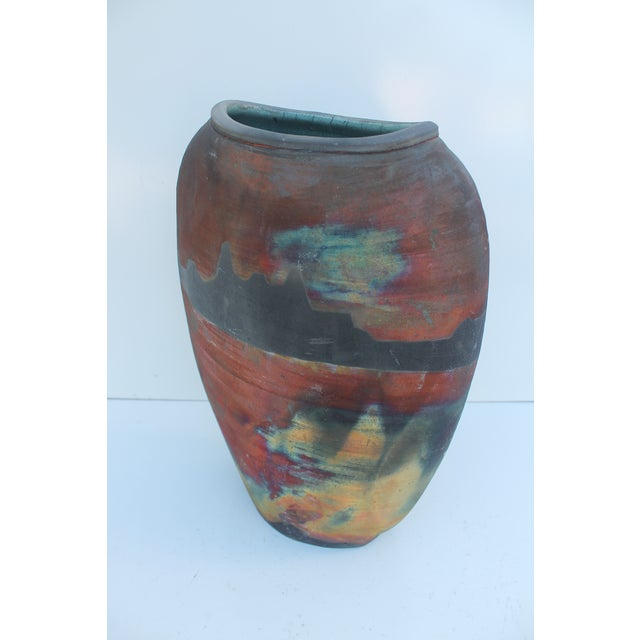 Abstract Vintage Studio Pottery Vase For Sale - Image 3 of 9