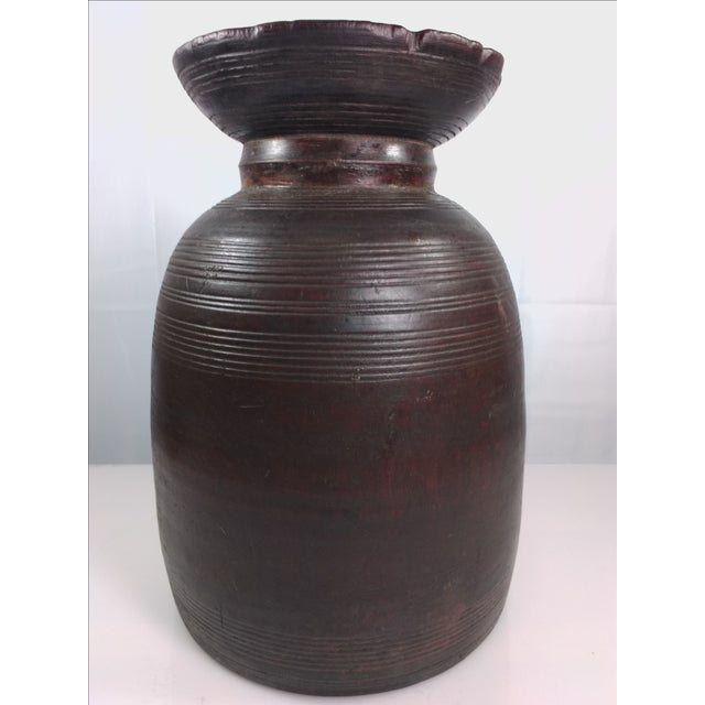 Primitive Hand-Carved Water Urn - Image 8 of 11