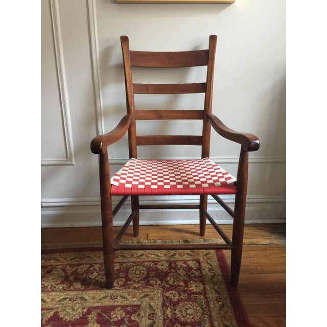Wood 20th Century Shaker Style Ladderback Side Chair For Sale - Image 7 of 7
