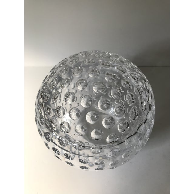 Late 20th Century Vintage Lucite Sphere Ice Bucket For Sale - Image 5 of 6