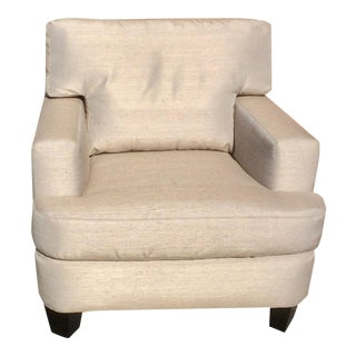Brand New Upholstery Custom Made Silk Lawson Club Chair For Sale