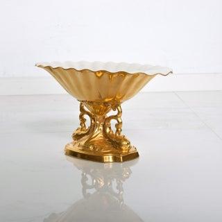 Mid Century Modern Lenox 24k Gold Aquarius Centerpiece Bowl Preview