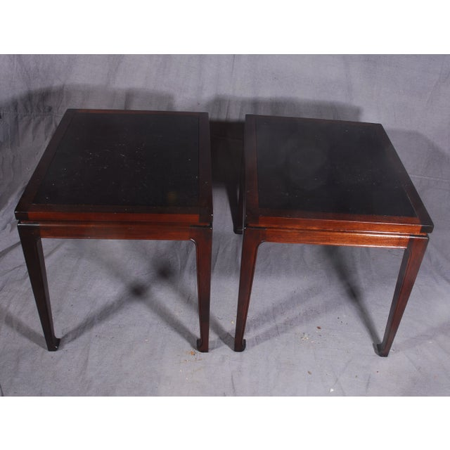 Mid-Century Modern Mahogany End Tables - A Pair - Image 5 of 7