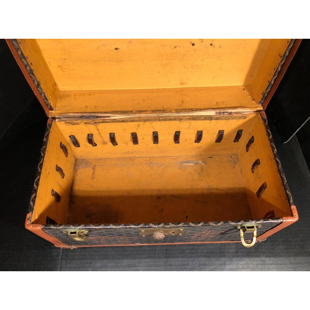 1900 - 1909 Goyard Jewelry or Valuables Trunk Train Case For Sale - Image 5 of 13