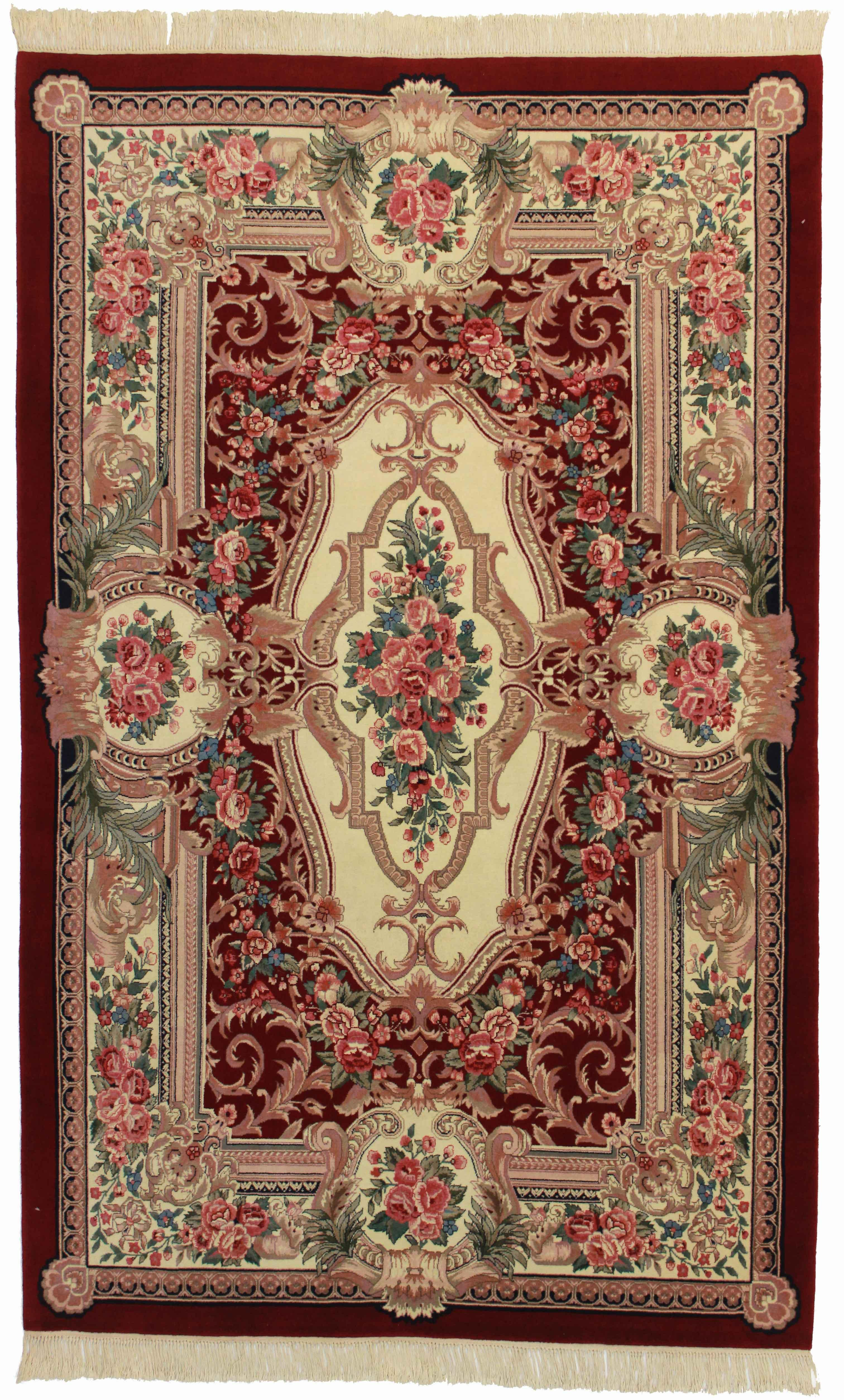 Hand Knotted Wool Chinese Rug 5 9 8 9 Chairish