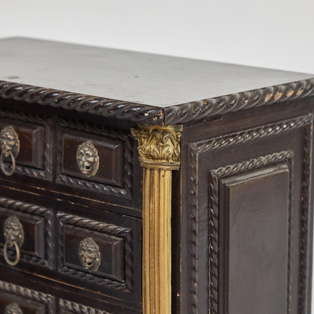 Early 20th Century Tabletop Chest of Drawers from Portugal For Sale - Image 4 of 5