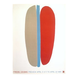 Friedel Dzubas Rare Vintage 1966 Mid Century Modern Abstract Expressionist Serigraph Print Exhibition Poster For Sale