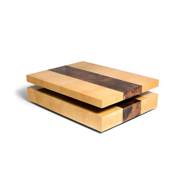 Aldo Tura Two-Tier Sliding Coffee Table For Sale - Image 12 of 12