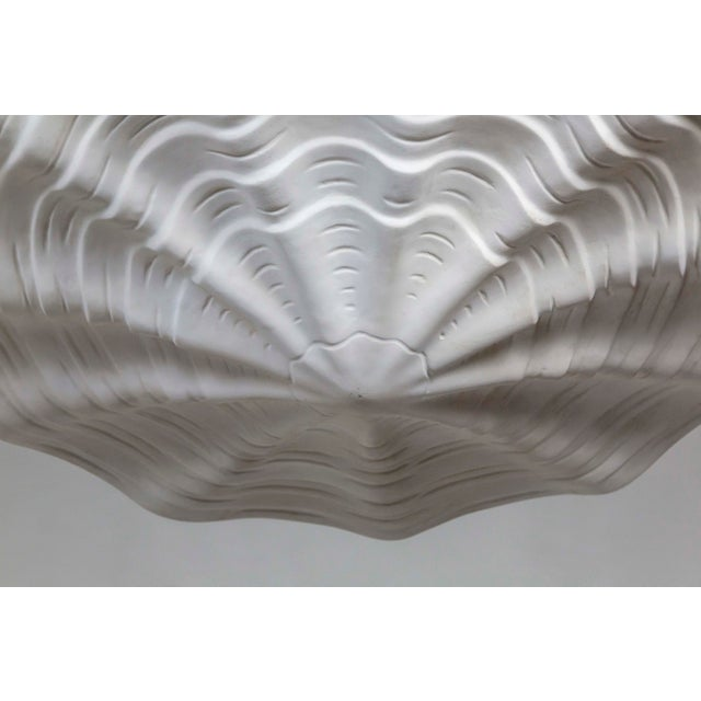 Contemporary Mammoth White Plaster Shell Pendant For Sale - Image 3 of 9