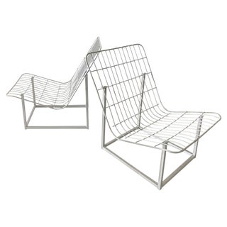 1960s Wire Frame Patio Chairs - A Pair