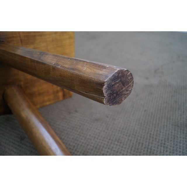 Rustic Wood Slab Coffee Table For Sale At 1stdibs: Rustic Slab Wood Coffee Table Bench