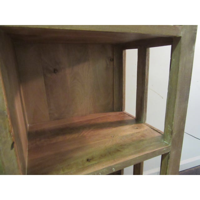 Glass Large French Country Open-Front Cupboard For Sale - Image 7 of 10