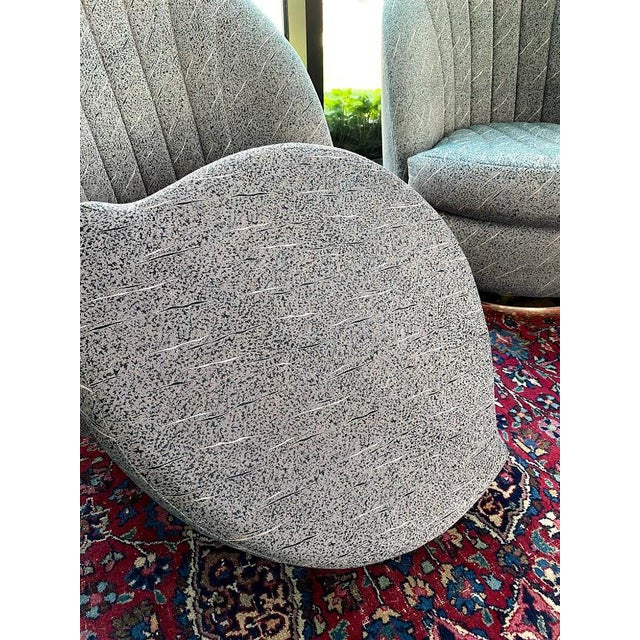Mid-Century Modern Swivel Club Chairs by Milo Baughman for Thayer Coggin - a Pair For Sale - Image 3 of 13