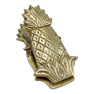 Mid-Century Brass Pineapple Letter Holder For Sale