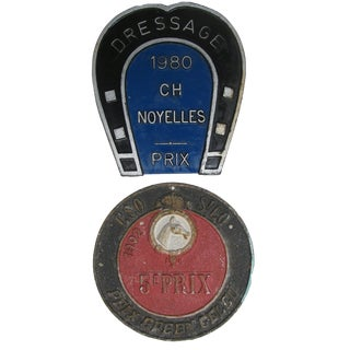 French Horse Show Trophy Plaques, S/2 For Sale