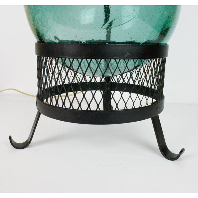 Glass Mid-Century Japanese Fishing Float Lamp For Sale - Image 7 of 13