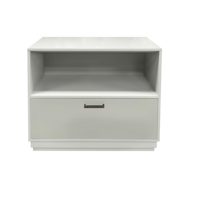 Minimalistic Maple Filing Cabinet From Garden Street in White with Contrasting Putty Drawer For Sale - Image 6 of 6